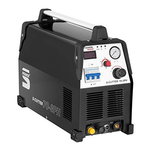 Stamos Power – S-CUTTER 70-3PH – Plasmaschneider (20-70 A, 400 V,20 mm Schneidleistung, Pilotzündung + Zubehör) schwarz - 6