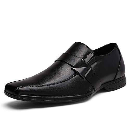 Bruno Marc Men s Giorgio-3 Black Leather Lined Dress Loafers Shoes - 8 M US