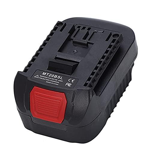 MT20BSL Adaptador convertidor de batería para Makita 18V Li-ion BL1830 BL1860 BL1850 BL1840 BL1820 utilizado para Bosch 18V batería de litio