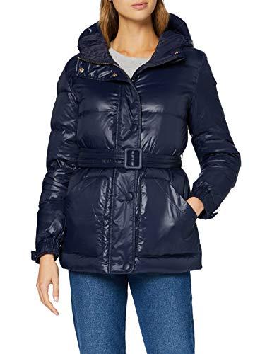 Armani Exchange Womens Long Jacket Down Coat, Blueberry, XS
