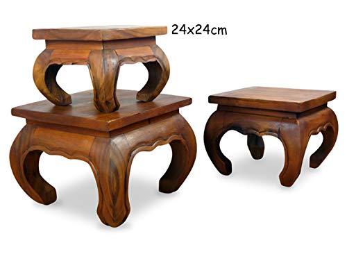 livasia Asiatischer Opiumtisch, Beistelltisch aus Massivholz der Marke Asia Wohnstudio, asiatischer Couchtisch, Nachttisch, Massivholz Möbel, (24cm)