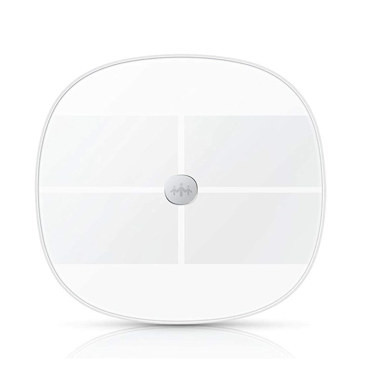 窓勧めるを除くAA + 金属硝子体脂肪計、電子体重計、超薄型デジタル体重計、高精度センサー - ガラス(ピンク)ダイレクト30.5cm