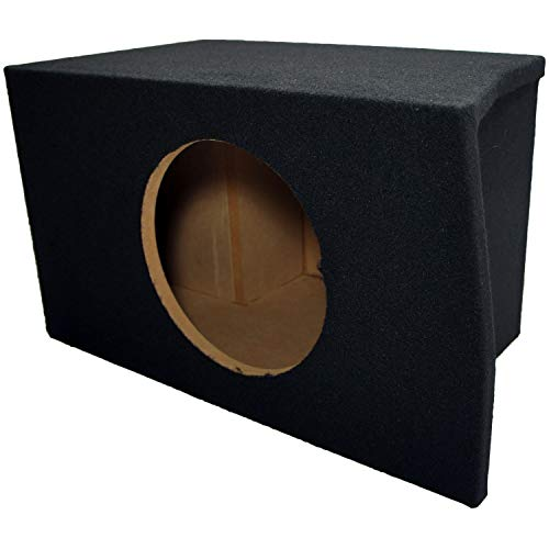 """Compatible with Ford Mustang Coupe 2005-2014 Single 10"""" Subwoofer Trunk Corner Sub Box Speaker Enclosure"""