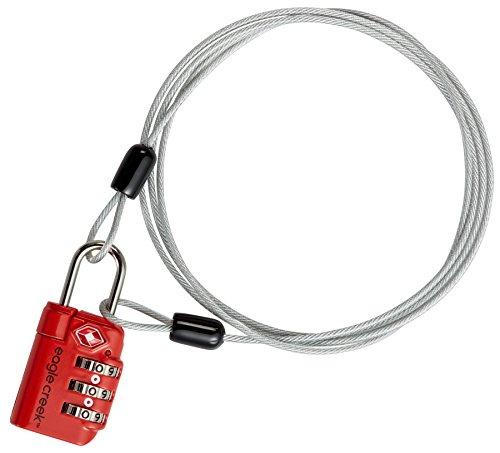 Eagle Creek 3-Dial TSA Lock & Cable Drahtseilschloss Reisegepäck Zahlenschloss