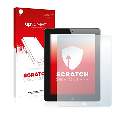 upscreen Schutzfolie kompatibel mit Apple iPad 2 2011 (2. Generation) – Kristallklar, Kratzschutz, Anti-Fingerprint