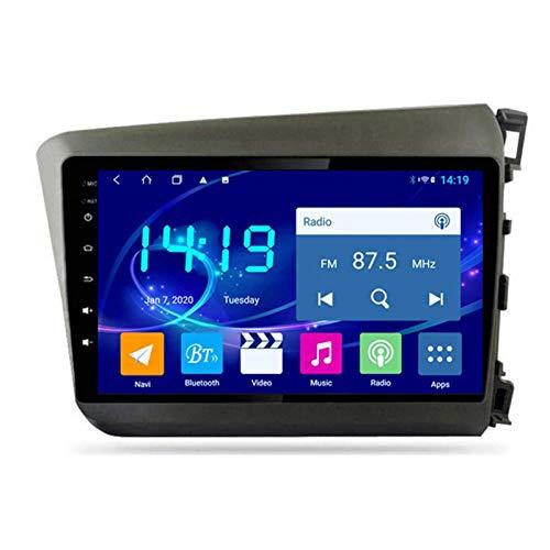 WY-CAR Unidad Principal De 9 Pulgadas Android 8.1 2DIN Navegación Estéreo para Automóvil para Honda Civic 2012-2015, Navegación GPS/Bluetooth/FM/RDS/Control del Volante/Cámara Trasera