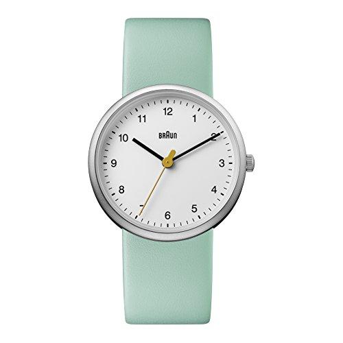 Braun Reloj Análogo clásico para Mujer de Cuarzo con Correa en Cuero BN0231WHGRLAL