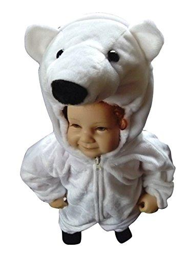 F24 pour transporter 92-96 costume d'ours polaire pour les bébés et les enfants, confortablement au-dessus des vêtements normaux