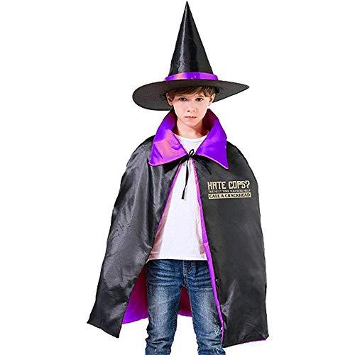 Odio Que los policías llamen a un Adicto al Crack, Halloween Divertido Este día, Crackhead Rojo, Sombrero de Mago de la policía, Capa del Cabo S