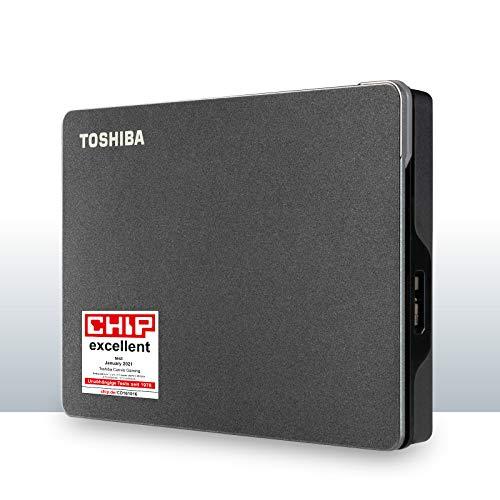 """Toshiba Canvio Gaming - Disco rigido esterno da 2,5"""", 4 TB, colore: Nero"""