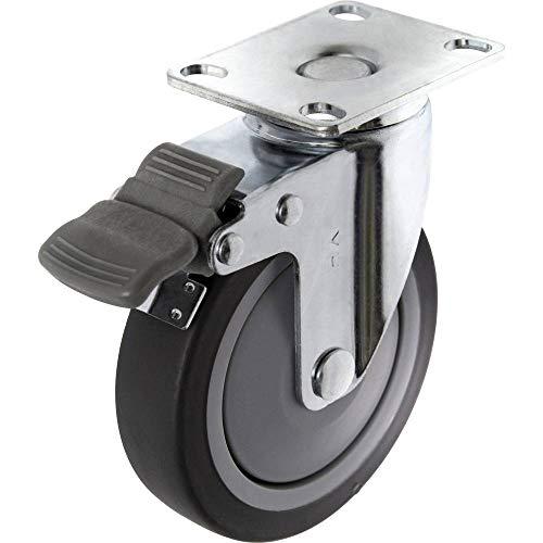 TOOLCRAFT TO-5137920 Lenkrolle mit Feststellbremse und Anschraubplatte 100 mm TPR