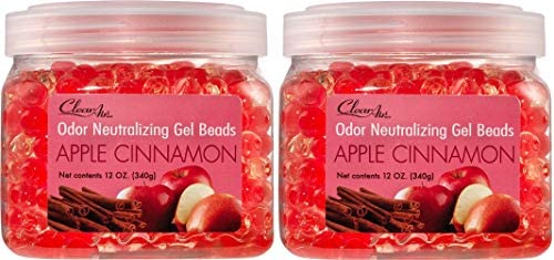 Clear Air Odor Eliminator Gel Beads - Air Freshener - Eliminates Odors in Bathrooms, Cars, Boats, RVs & Pet Areas - Made with Essential Oils - Fresh Linen Scent - 2 Pack