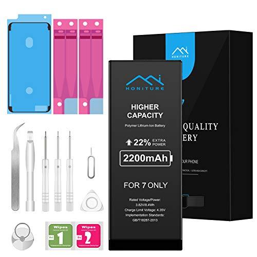 2200mAh Batería para iPhone 7 de Alta Capacidad, con Todas Las Herramientas de Kits de reparación, más 2 * Cintas Adhesiva 1 * Adhesivo de Pantalla e Manual de Instrucciones
