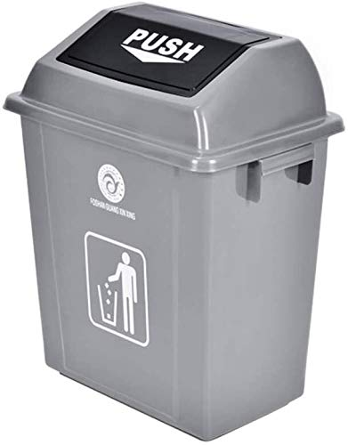 Tangrong Außenmülltonne aus Kunststoff, Papierkorb, Papierkorb, Heavy Duty Farbe Trash Can (Color : Gray, Size : 8L)