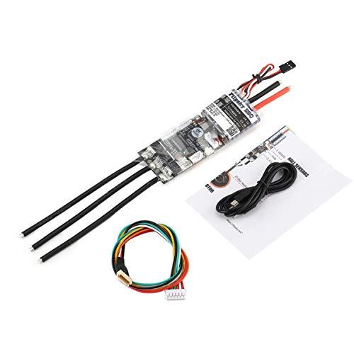 LoveOlvidoD HGLRC FLIPSKY FSESC 50A V4.12 ESC Elektronische Geschwindigkeitsregelung für elektrisches Skateboard RC Auto Boot E-Bike E-Scooter Roboter Schwarz