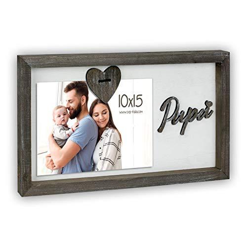 Matteo marco sobremesa para foto 10x15 horizontal, madera, papa y corazon en...