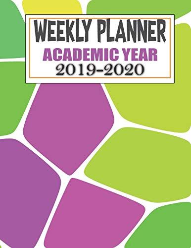Weekly Planner Academic Year 2019 - 2020: Weekly Planner Mosaic Theme 2019 - 2020 Acadmic Calendar and Organizer