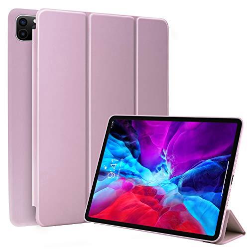 N NEWTOP Cover Compatibile per Apple iPad PRO da 12.9' Pollici 2021, Custodia Flip Smart Libro Ori Case Ultra Sottile Leggera Stand Supporto Funzione Wake/Sleep Simil Pelle (Lilla)