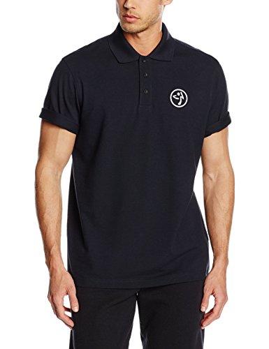 Zumba Fitness Poppin Collar Polo Camiseta sin Mangas, Hombre, Negro, XS