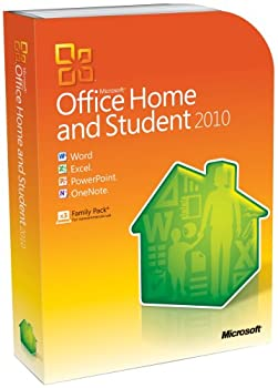 OLD VERSION Microsoft Office Home and Student 2010 Family Pack 3PC  Disc Version