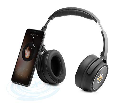 MusicMan ANC Overear Kopfhörer BT-X43, schwarz, (L) 20,5 x (B) 14,5 x (H) 8,3cm