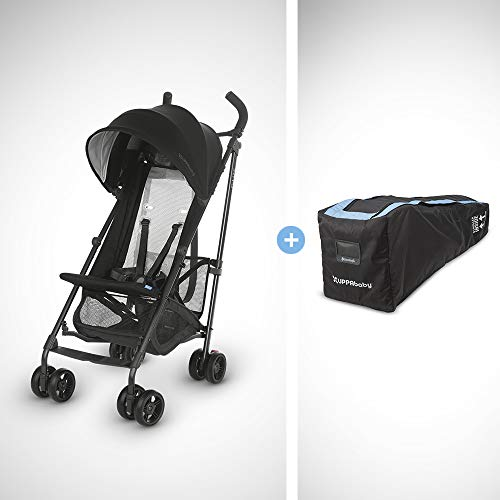 UPPAbaby G-LITE Stroller - Jake (Black/Carbon) + G-LITE Travel Bag Minnesota