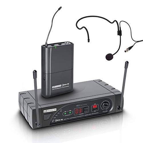 Blue-Music Ld Systems eco 16 hbp 6 draadloos microfoonsysteem met heupfles en 16-kanaals ontvanger