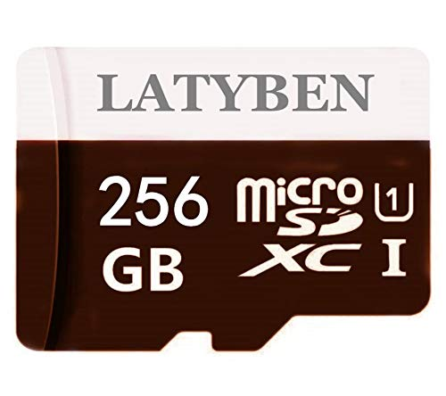 High Compatible Memory Class 10 Micro SD Card 256 GB Tarjetas de memoria SDXC Micro TF Card Transflash con Free SD Adapter for Smartphones and Otros Devices (256 GB)