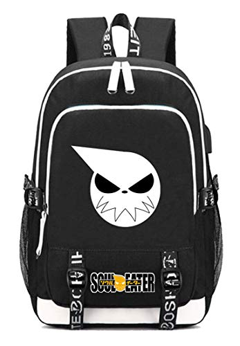 Gumstyle SOULEATER Anime Multifunction Schoolbag Travel Bag Laptop Backpack with USB Charging Port and Headphone Jack 5