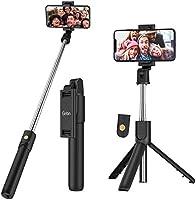 Perche Selfie Bluetooth, Gritin 3 en 1 Selfie Stick Trépied Bâton Selfie Bluetooth Extensible Télescopique Monopode...