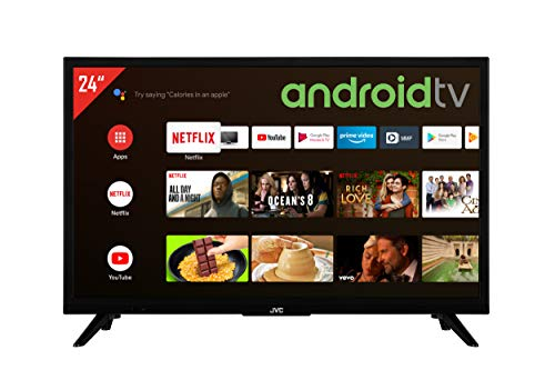 JVC LT-24VAH3055 24 Zoll Fernseher / Android TV (HD ready, HDR, Triple-Tuner, Smart TV, Play Store) [Modelljahr 2021], Schwarz