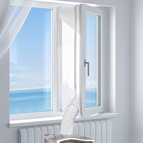 Sellado de ventanas para climatizador móvil, para secadora, deshumidificador, montaje en ventanas, ventanas de techo, sin necesidad de taladrar, 400 cm