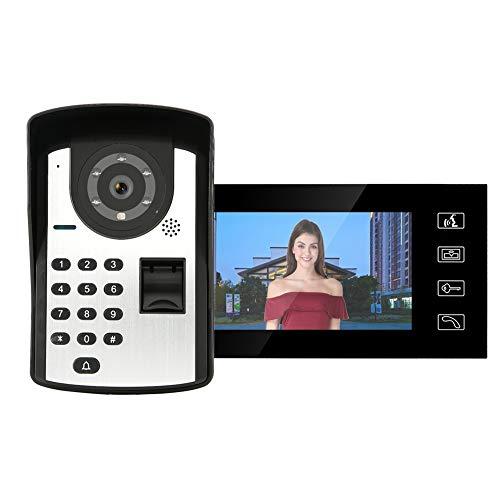 Timbre para videoportero Video por Cable Doorphone 7in Contraseña Teléfono De La...