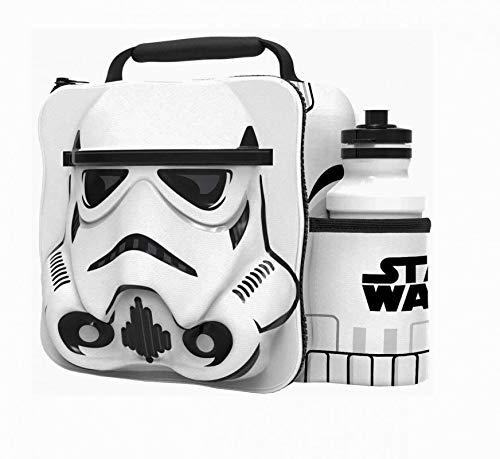 Star Wars Storm Trooper Caja 3D para merienda con Botella Bolsa Almuerzo