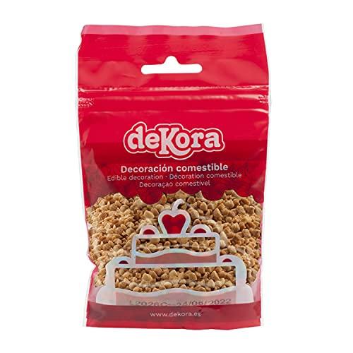 Dekora | Almendra Crocanti 100% Almendras + Azúcar | Almendra Granillo Caramelizada para Pastelería | Decoración de Repostería Comestible - 100 g