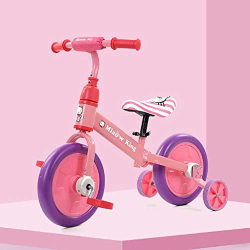 3 In 1 Laufrads For 1-6 Jahre Kinder, Baby Dreirad Mit Abnehmbaren Pedalen Und Hilfsrad, Kindersitz-Design For Die Höhenverstellung, 7 Farben (Color : F)