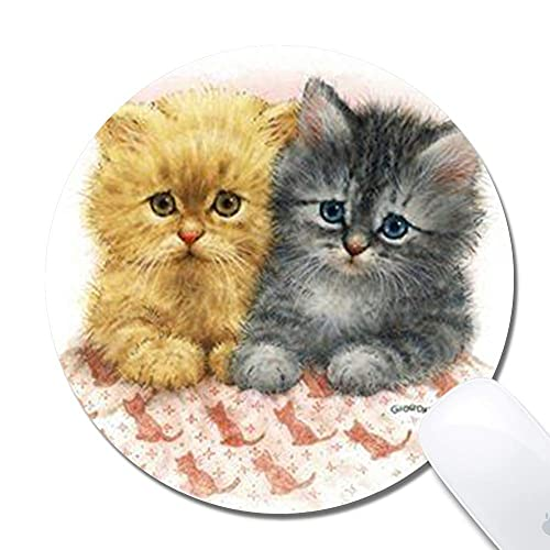 N\A Cartoon Cat Extended Ergonomic Gaming Mouse Pad, Round 200x3mm Mouse Pad Design Personalizzato Gomma Round 200x3mm Mouse Pad-Cartoon Cat