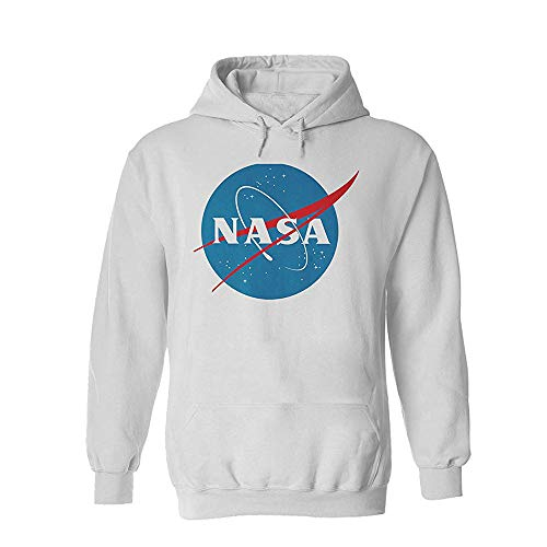 Nasa National Space Administration Logo Sports Grey Men Women Unisex Hooded Sweatshirt Hoodie-M