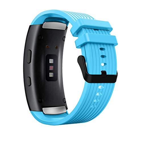 MoKo Cinturino di Ricambio Compatibile con Samsung Gear Fit 2/Fit 2 PRO, Cinturino Protettivo per Smartwatch Orologio in Silicone Morbido Sportivo Regolabile,...