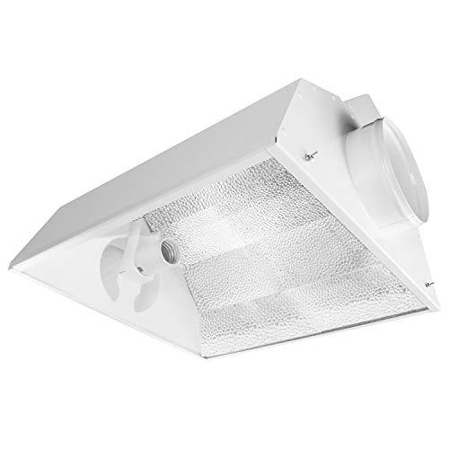 iPower GLARCL6 6 Inch Hydroponics Air Cooled Reflector 250W, 400W, 600W, 1000W HPS MH Grow Light, High-Reflectivity, Aluminum Hood, No Bulbs Included