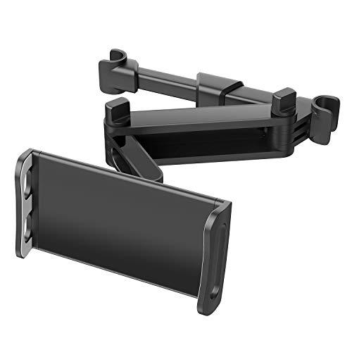 Zommuei Tablet Halterung Auto,Universal Ausziehbare KFZ Kopfstützen Halterung Unterstüzt Tablet Halter Kopfstütze für iPad iPhone Serie/Samsung/Kindle Fire HD/Nintendo Switch usw. 4,7-10,5 Zoll Geräte