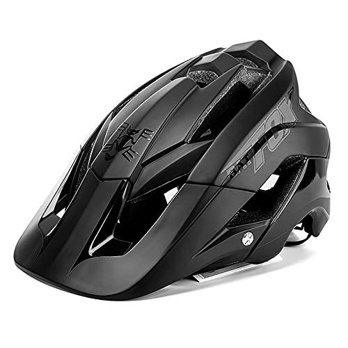 G&F Adultos Casco Ciclismo Bicicleta Montaña MTB Casco con Parasol por Carreras Bicicletas 56-62cm (Color : Black, Size : 56-62)