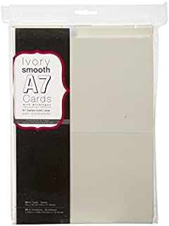 Darice 1103-67 Blank Cards and Envelopes - 50 pcs - Value Pack, 5X7, Ivory/Cream