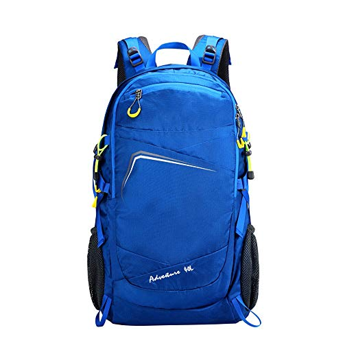 Zaino da Trekking Zaino Alpinismo Multifunzionale Zaino Trekking Camping Casual Trekking Zaino Water-Resistant Adatto per Il Campeggio E L'escursionismo (Colore : Blu, Size : 40L)