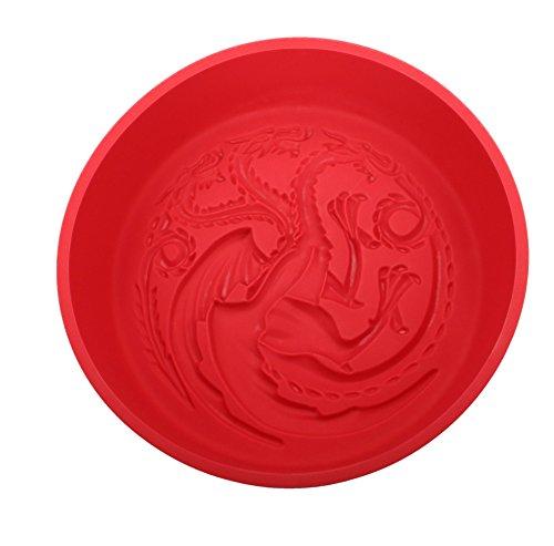 SD toys Targaryen Game of Thrones Molde Horno, Silicona, Rojo, 29 x 27 x 7 cm