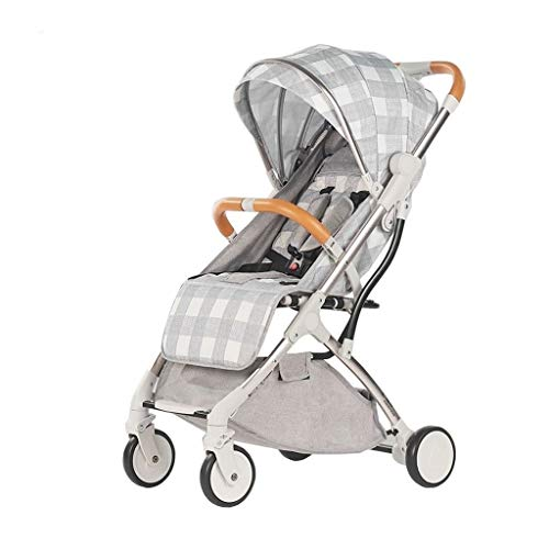 Read About LXJ Baby Stroller,Oxford Cloth Aluminum Alloy,Universal Wheel Bearing Stroller,one-Hand F...