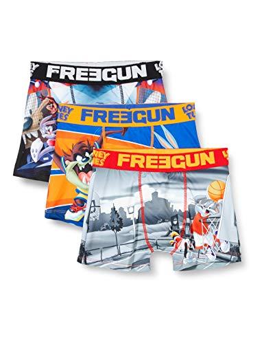 FREEGUN Lot De 3 Boxer Garcon Looney Tunes Pantaloni, Multicolore (Multicolor G1), 14-15 Anni (Taglia Unica: 14/16) (Pacco da 3) Bambino