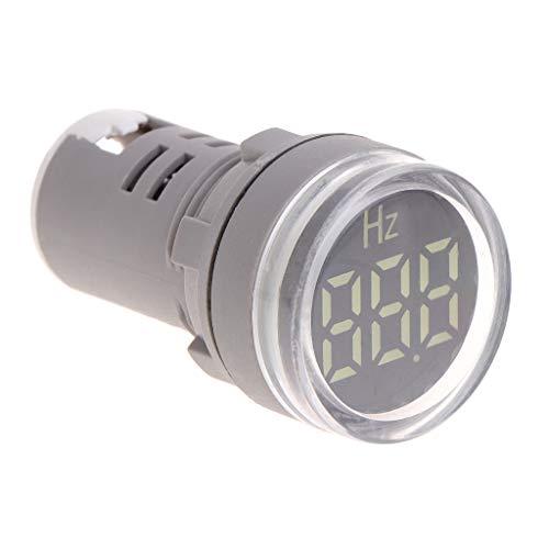 WOWOWO Pantalla LED de 22 mm Medidor de frecuencia CA Electricidad Indicador de hercios Hz Luz piloto