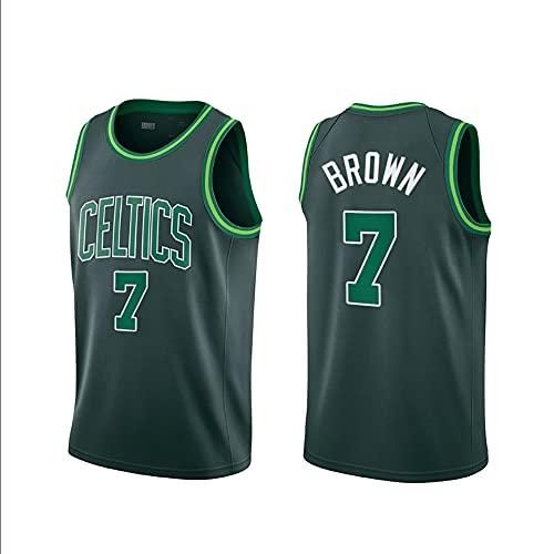 MAOMAOQUEENss Jaylen Brown Camisetas Caloncesto,#7 Celtics Jersey de Edición Especial, Estilo de Ropa Deportiva,Secado Rápido y Repetible Limpieza,Tamaño Estándar S-XXL,Green-M