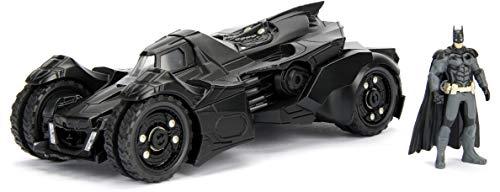 Jada Toys Batmobile-Batman Arkham Knight-mit Figuren-2015 Miniaturauto Sammlerstück, 98037BK, Schwarz